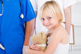Little girl patient in doctor's office — Stock Photo