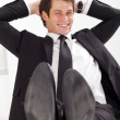 Relaxed young businessman — Stock Photo #11280401