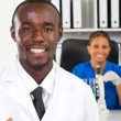 African american medical researchers — Stock Photo