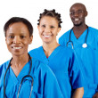 Foto de Stock  : Group of african american medical professionals