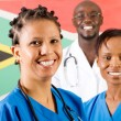 South african medical workers portrait — 图库照片