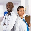 Foto Stock: Happy african american medical professionals