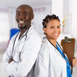 Foto de Stock  : Happy african american medical professionals