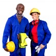 Stock Photo: African american industrial workers