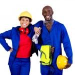 Afryki amerykański robotników przemysłowych — Zdjęcie stockowe