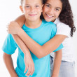 Happy brother and sister — Stock Photo