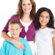 Happy mother and kids — Stock Photo
