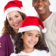 Family christmas portrait — Stockfoto
