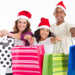 Happy family Christmas shopping — Stockfoto #11308062