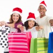 Stock fotografie: Happy family Christmas shopping