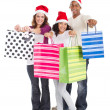 Happy family Christmas shopping — Stock Photo