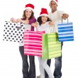 Stock Photo: Happy family Christmas shopping