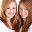 Beautiful teen girls on white — Stock Photo #11308913