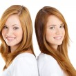 Attractive twin sisters — Stock Photo