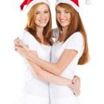 Happy young Christmas teen girls — Stock Photo #11308947