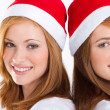 Happy young Christmas girls — Stock Photo