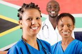 South african medical workers portrait — Stock Photo