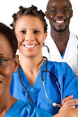 African medical professionals on white — Stock Photo