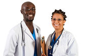 African american doctor and nurse — Stock Photo