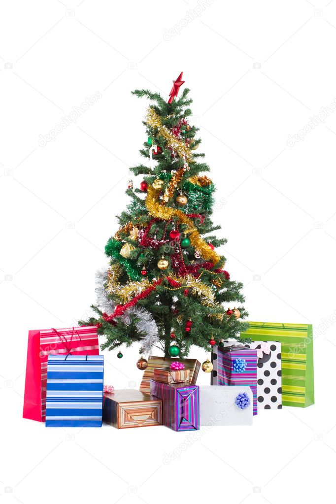 Christmas tree and gifts — Stock Photo #11308079
