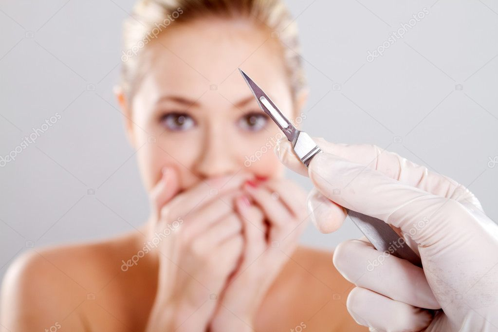 Scary plastic surgery — Stock Photo #11308859