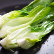 Bok choy stir fry on pan — Stock Photo