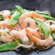 Prawn and vegetable stir fry — Stock Photo