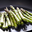 Stock Photo: Asparagus in frying pan