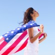 Young woman American dream — Stock Photo