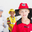 Little boy as firefighter — Stock Photo