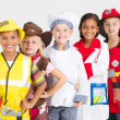 Group of kids in uniforms costumes — Stock Photo #11339619
