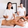 Stock Photo: Thai spa herbal massage