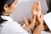 Professional foot massage — Стоковое фото