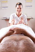Professional masseuse — Stock Photo
