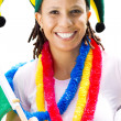 Stock Photo: Closeup of female sports fan
