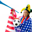 Royalty-Free Stock Photo: American soccer fan