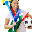 Stock Photo: Africsoccer fan