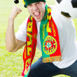 Portuguese soccer fan — Stock Photo #11364433