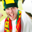 Stock Photo: Excited Portuguese soccer fan