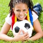 African soccer fan — Stock Photo #11364441