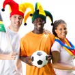 Group of south african soccer fans — Stock Photo