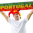 Portugal soccer fan — Stock Photo