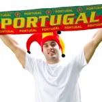 Portugal soccer fan — Stock Photo