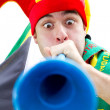 Soccer fan — Stock Photo