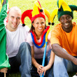 Group of soccer fans — Stock Photo