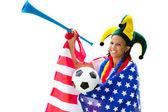 American soccer fan — Stock Photo