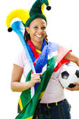 Fan piłki nożnej afryki — Zdjęcie stockowe