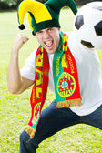 Portuguese soccer fan — Stock Photo
