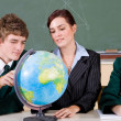 High school geography classroom — Stock Photo