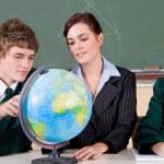 High school geography classroom — Stock Photo
